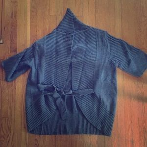 Gray Short Sleeve Cardigan NWOT Large